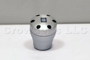 Nardi Aluminum Silver Leather Shift Knob For Opel Volvo Renault Alfa Romeo 156