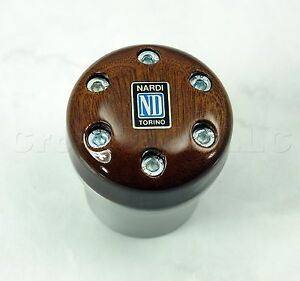 Nardi Aluminum Wood Gear Shift Knob For Opel Volvo Renault Alfa Romeo 156
