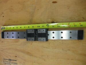 Thk Linear Guide Lm Rail 2 Rsh15wzm Carriage Bearing Blocks 18 5 470mm
