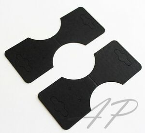 100 Pcs Of Blank Necklace Ponytail Holder Earrings Display Card In Black For For