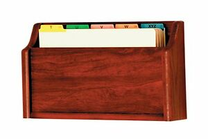 Wooden Mallet Single Square Bottom Legal Size File Holder Mahogany 3 x17 x11