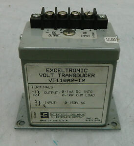 Scientific Columbus Exceltronic Volt Transducer Vt110a2 1 12 Used Warranty