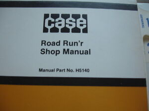 Case Service Shop Repair Manual Trencher Road Run r Runner 580a B Parts Catalog