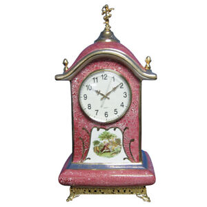 Porcelain Mantel Clock Hand Painted Clock 003