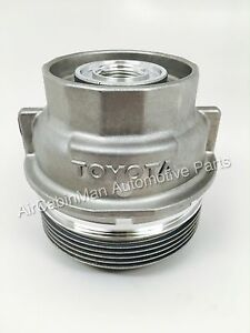 New Genuine Oil Filter Housing Cap Holder 15620 31060 With Plug For Toyota