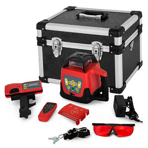 150m Self leveling Rotary Laser Level Kit Rotatationslaser Red Beam Automatic