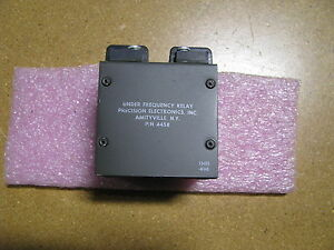 Precision Electronics Under Frequency Relay 4458 Nsn 5945 00 430 3576