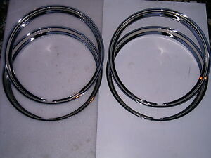 40 41 42 43 44 45 46 47 48 Ford Car Stainless Beauty Rings 15 Inch W Ribs New