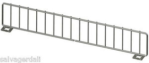 Gondola Shelf Divider Fence Chrome Lozier Madix Usa Made 9 l X 3 h Lot Of 50 New