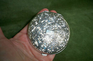 Vintage Compact Sterling 950 Lady S 3 No Damage Ready To Monogram