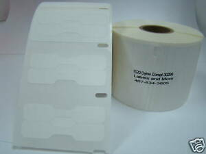 32 Roll Dymo Compt Labelwriter 30299 Polyprolene Jewelry Barbell Labels 1500 P r