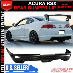 For 02 04 Acura Rsx Coupe 2dr Mugen Style Pu Rear Bumper Lip Spoiler Bodykit