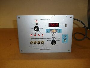 Unholtz dickie 834b Vibration Monitor 15 Hz Used