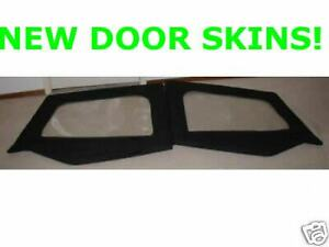 Upper Half Door Skins Black Pair 89615 1988 1995 For Jeep Wrangler Yj