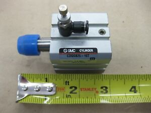 Smc Cdqsb25 10t Compact Guided Pneumatic Cylinder Air Quick Flow Controls