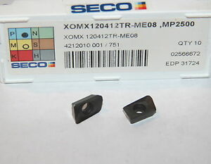Xomx 120412tr Me08 Mp2500 Seco 10 Inserts Factory Pack