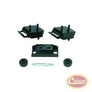 Jeep Cj And Sj 71 91 With 304 360 V8 Engine Transmission 6pc Mount Kit