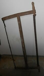 Early Antique Primitive Buck Saw