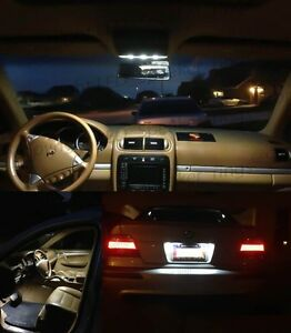 12x White Led Lights Interior Package Kit For Bmw 1 Series E82 Coupe 2008