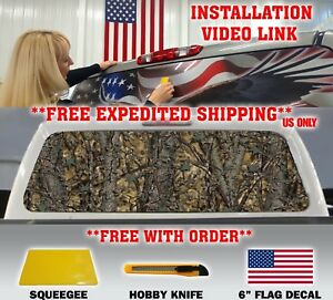 Camo Camouflage Pickup Truck Rear Window Graphic Decal Tint Hunter