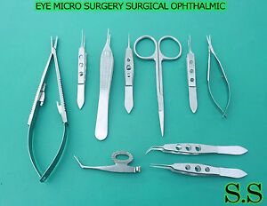 12 Pc O r Grade Eye Micro Surgery Surgical Ophthalmic Instruments Kit Set Ey 014