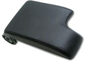Center Console Armrest Leather Synthetic Cover For Bmw E46 99 04 Black