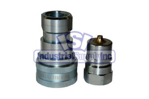 8 Sets Of 1 Iso 7241 1 B Hydraulic Quick Disconnect Couplers