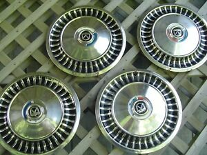 1963 63 Ford Fairlane Hubcaps Wheel Covers Center Caps Antique Vintage 13 In
