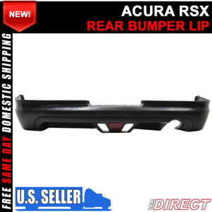 For 02 04 Acura Rsx Coupe 2dr Mugen Style Rear Lip With Led Brake Light
