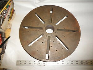 Machinist Mill Lathe Tool 13 1 2 In Diameter Face Plate For Lathe 2 1 8 Center
