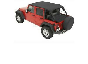 Bestop Black Diamond Safari Bikini Top For Jeep Wrangler Jk 2007 2009 4 Door