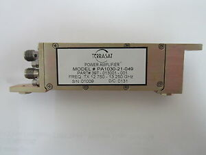 Terrasat Power Amplifiers 12 750 13 250ghz Pa1030 21 049 397 013001 001