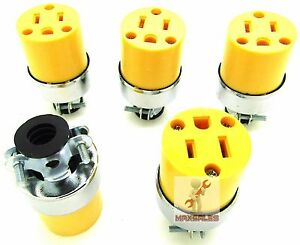 New 5pc Female Extension Cord Electrical Wire Repair Replacement Plug End