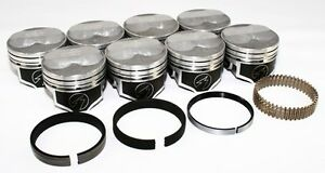 Sealed Power Chevy 350 4 040 125 Domed Pistons Moly Rings Kit Sbc H618cp40