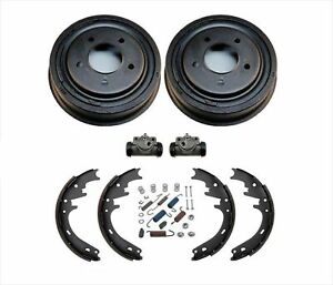 Brake Drums Shoes Wheel Cylinders Spring Kit For Ford Bronco Full Size 87 96