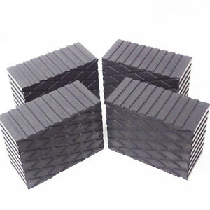 3 Tall Solid Rubber Stack Blocks For Any Auto Lift Or Rolling Jack Set Of 4