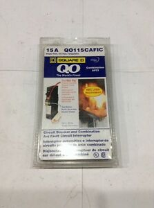 Qo115cafic Square D Circuit Breaker And Combination Arc fault 15 A 1 P 120v