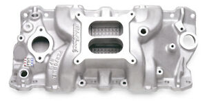 Edelbrock 7101 Performer Rpm Dual Plane Intake Manifold 55 86 Small Block Chevy