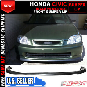 Fits 96 98 Honda Civic Sir Style Front Bumper Lip Spoiler Pu