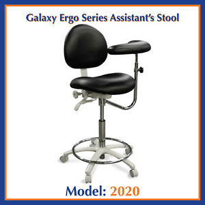 Galaxy 2020 Contoured Ergonomic Dental Assistant s Seat Stool Chair