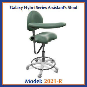Galaxy 2021 r Ergonomic Dental Assistant s Seat W Ratcheting Arm Stool Chair