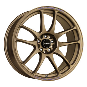 Set 4 16x7 40 4x100 114 3 Drag Dr 31 Bronze Wheels rims 16 inch 49263