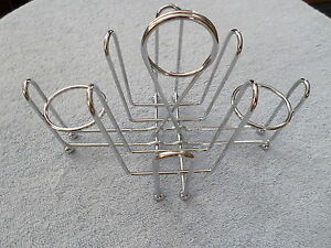 Restaurant Condiment Menu Holder Salt Pepper Sugar Metal Wire Type