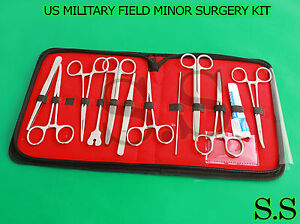 53 Pc Us Military Field Minor Surgical Instruments Kit 50 Set Ds 1015