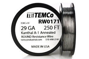 Temco Kanthal A1 Wire 29 Gauge 250 Ft Resistance Awg A 1 Ga