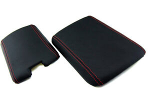 Armrest Center Console Real Leather Cover For Mazda Rx8 04 08 Red Stitch