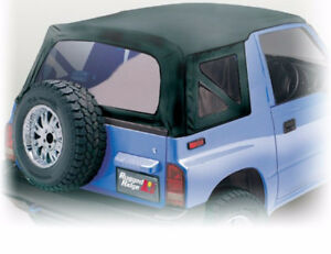 Soft Top Black Denim Clear Windows For Suzuki Sidekick 1988 1994 Rugged Ridge
