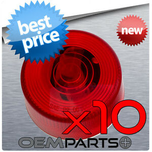 10pcs New 2 13 16 Red Round Clearance Side Marker Truck Trailer Light Wires
