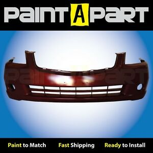 Fits 2005 2006 Nissan Altima s Se Sl Front Bumper Painted A15 Red Metallic