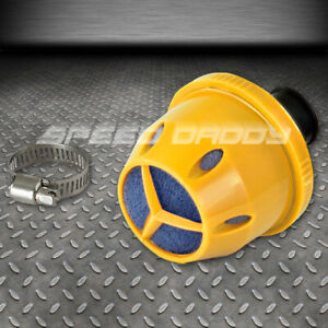 12mm Engine intake oil Crankcase Valve Vent Clamp on Mesh Yellow Filter breather